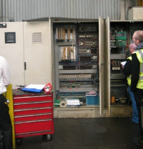 Pegler Press - survey of the old control cubicles