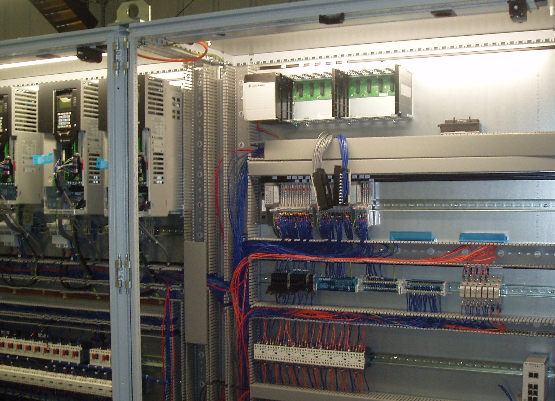Automax And Plc5 To Powerflex Drives Control Logix Upgrade 753 Wiring Diagram New Plc Panel